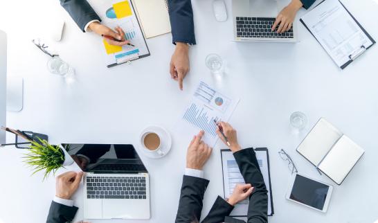 Team meeting planning financials