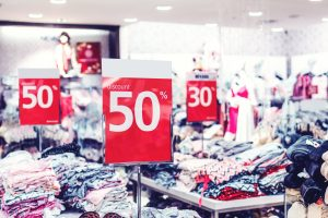 image of sales discount at retail shop
