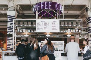 Image of coffee shop menu